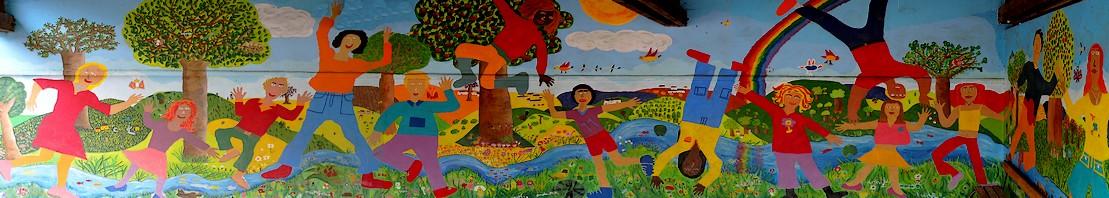 Maternelle ecole notre dame de lourdes urville for Types de peintures murales